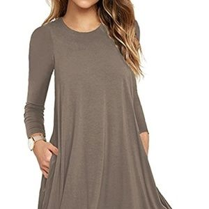 UGE - 3/4 Sleeve, Pocket Casual Loose Tunic - S
